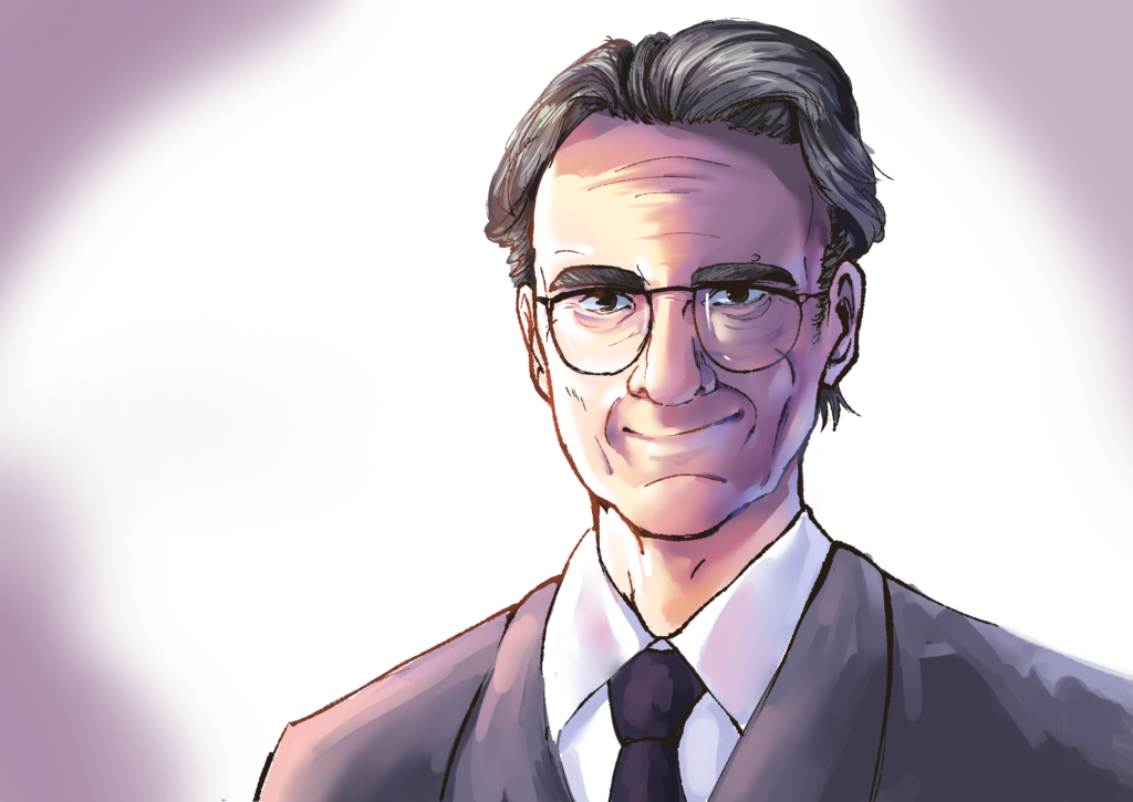 A drawing of Dr. Norman Kaplan.