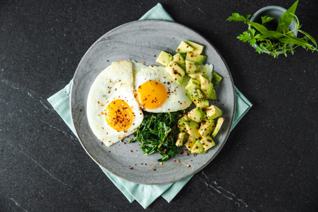 Fried Eggs, Spinach & Avocado