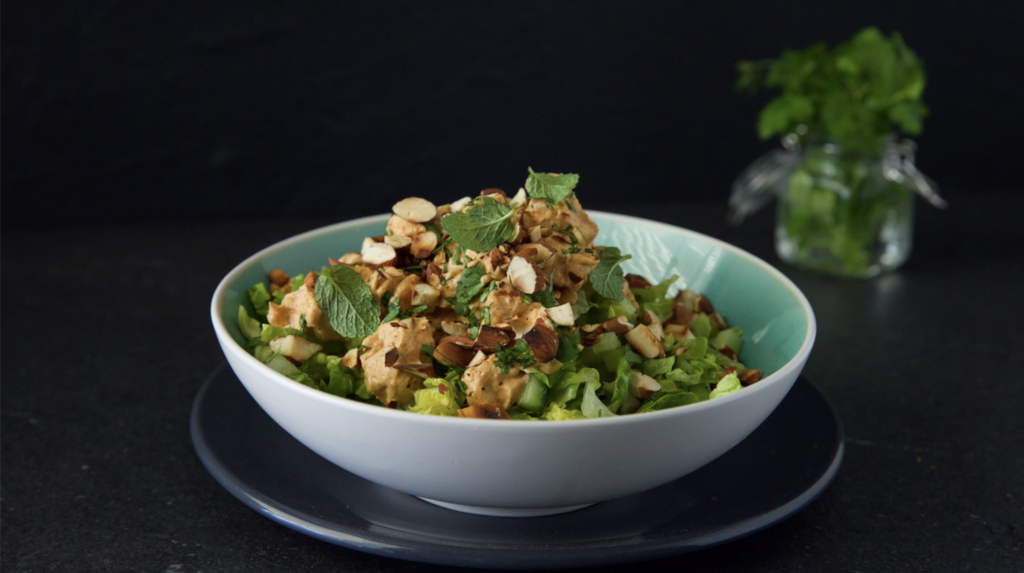 Curried Chicken & Almond Salad