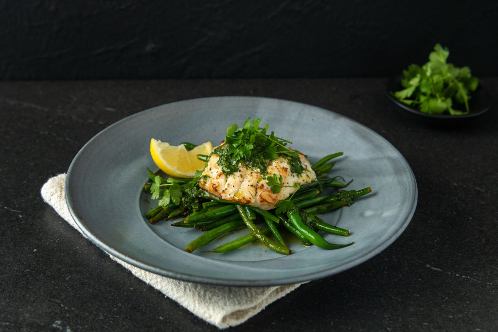 Lemon Butter Cod & Green Beans