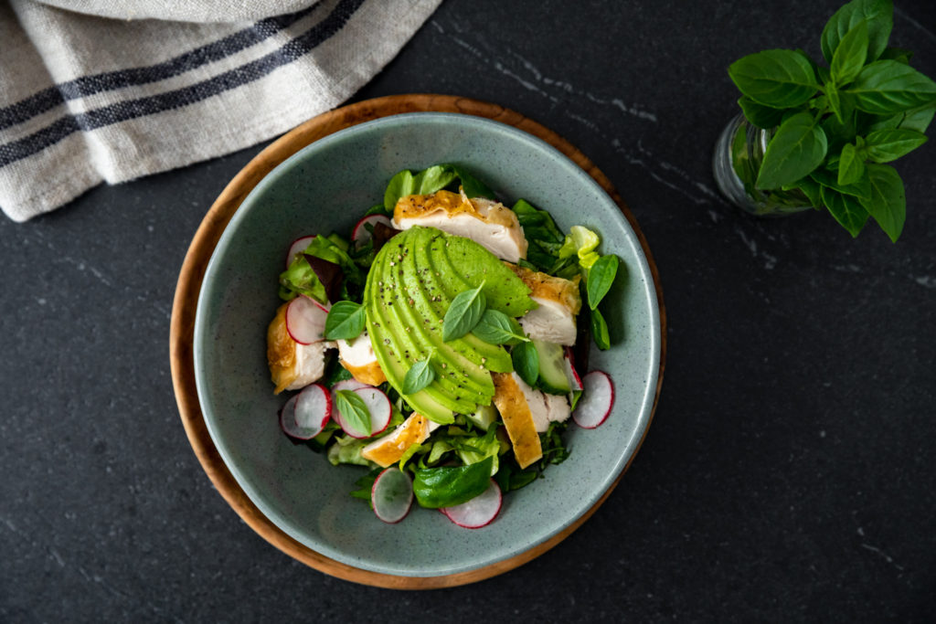 Roasted Chicken & Avocado Salad