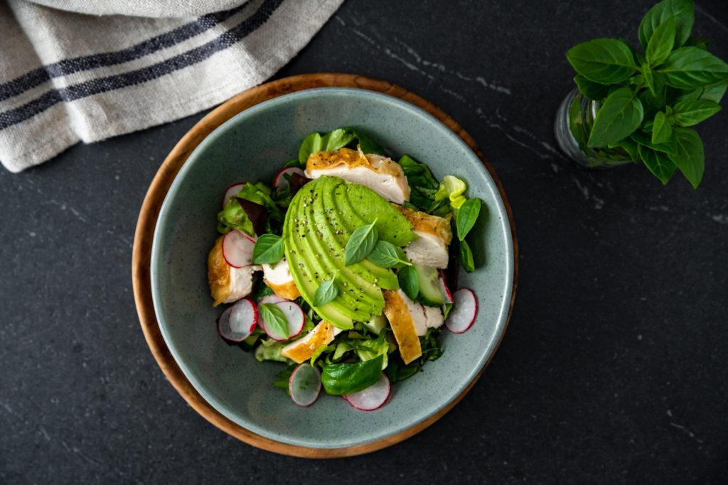 Roasted Chicken & Avocado Salad