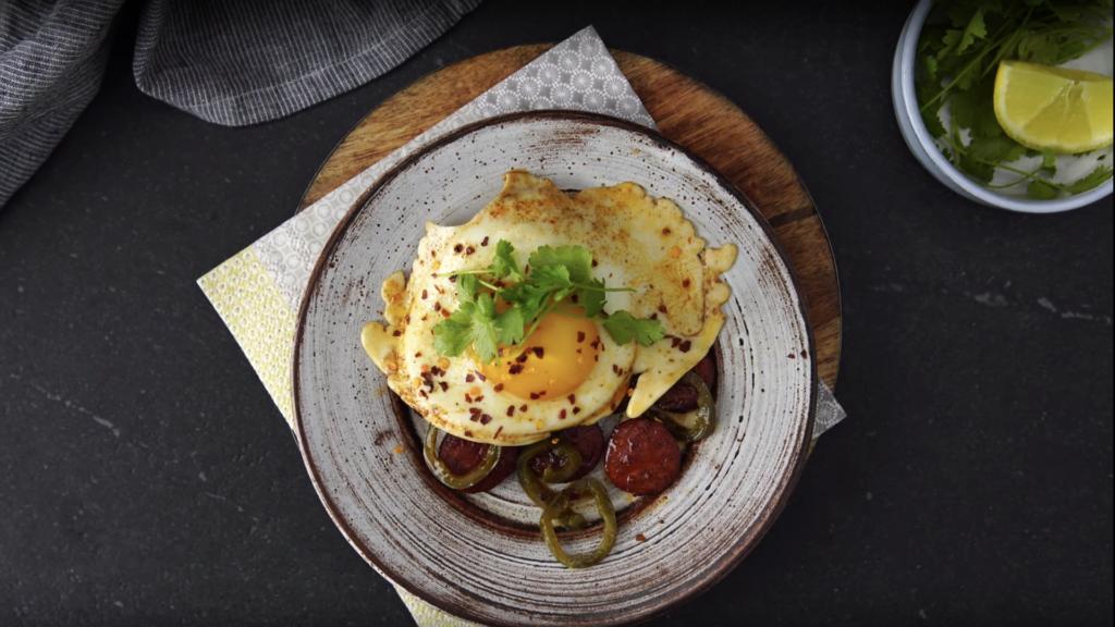 Crispy Chorizo, Jalapeño & Egg