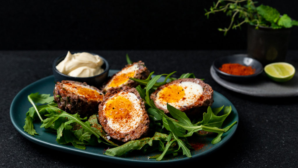 eggs with beef