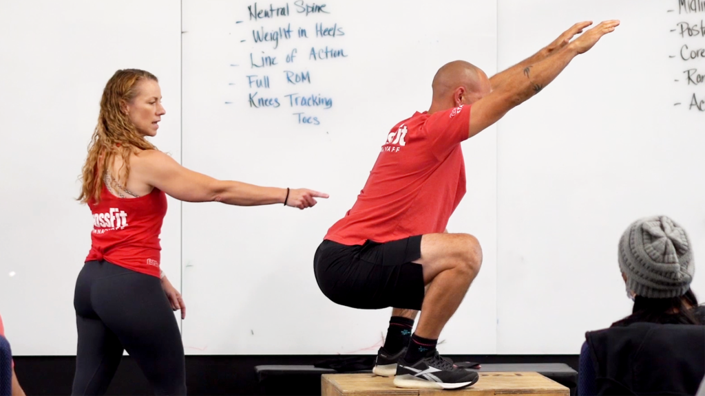 Michele neutral spine squat