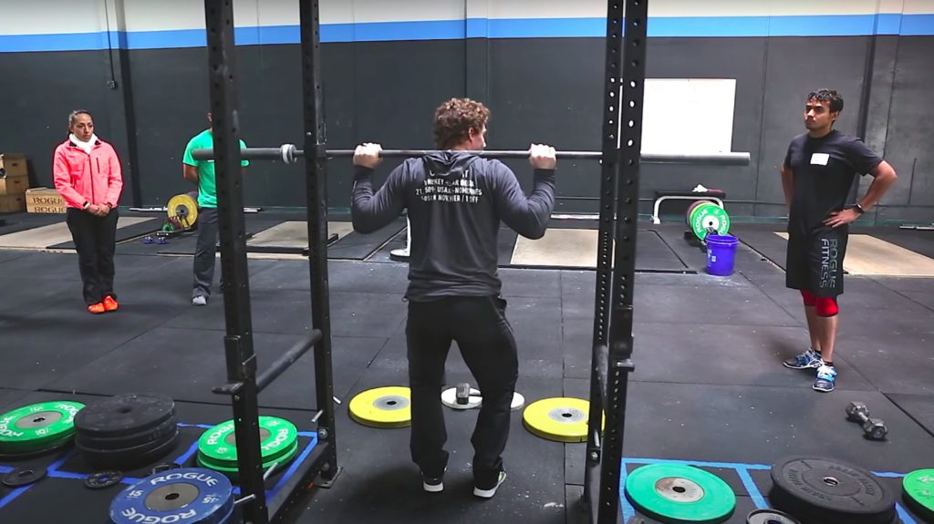 High Bar Back Squat Hand Position