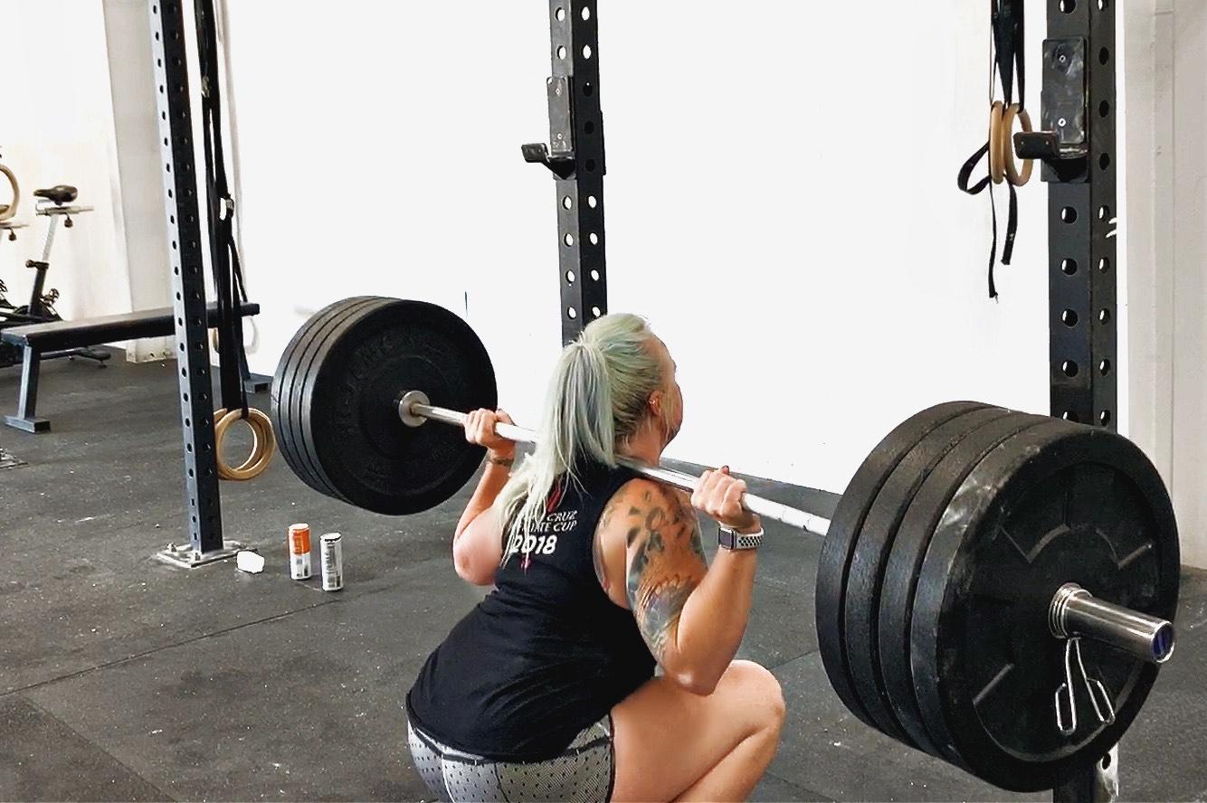 Angie Manson back-squats