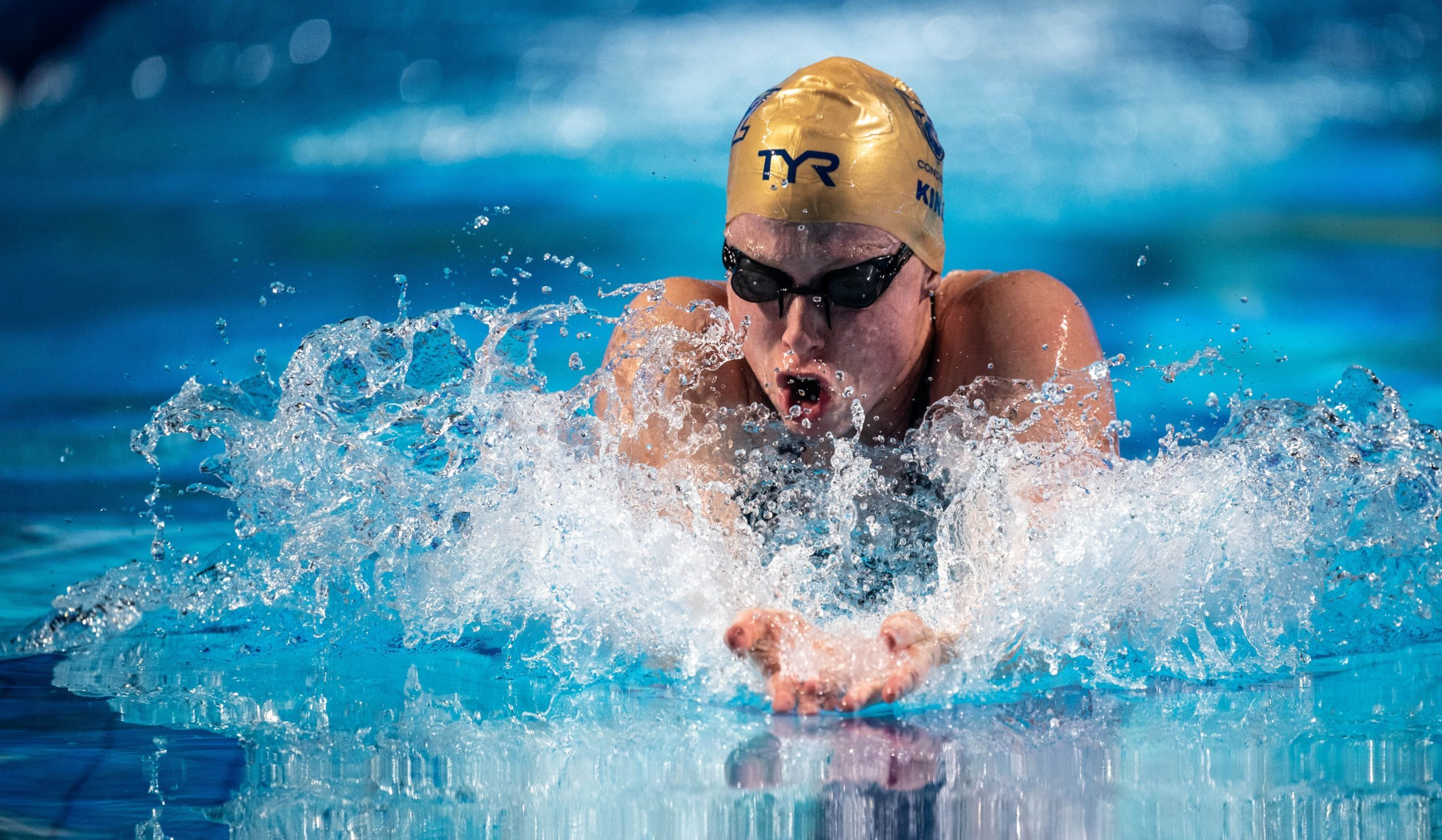 Olympic medalist Lilly King swims at the Tokyo Olympics.